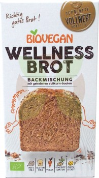 Biovegan Backmischung glutenfreies Wellnessbrot (MHD: 30.11.19)  -Bio-