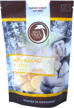 Big Tree Farms Roh Kakaobutter Drops  -Bio-